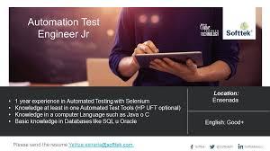 Qtp 1 Year Experience Resume Softtek It Jobs Softtekqajobs Twitter