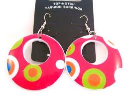 80s hoop earrings buy retro pink funky spotted drop hoop earrings hippy 70s 80s