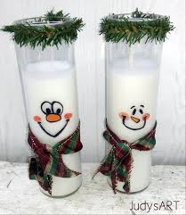 Easy To Make Home Decorations Diy Snowman Snowperson Candle Christmas Home Decor Teacher Gift