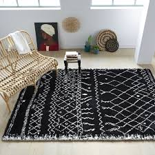 black and white rug mad about the house