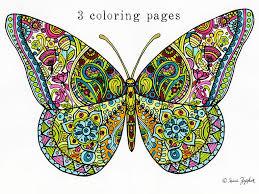 sue zipkin printable set of 3 butterfly mandala flower