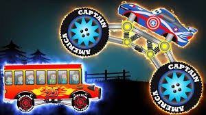 lightning mcqueen monster truck videos captain america monster truck vs disney lightning mcqueen