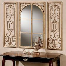 Mirror Decorating Ideas How To Decorating Decorative Wall Mirror Sets With Scenic Metal Wall