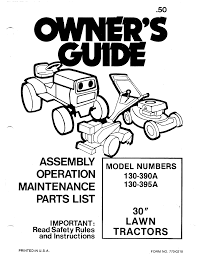 mtd lawn mower 130 390a user guide manualsonline com
