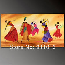 online get cheap indian dancers aliexpress com alibaba group free shipping home decor modern picture indian dancer character for lover on canvas oil painting handmade wall art pictures