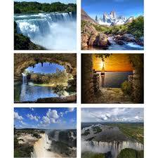 home decor waterfalls diy embroidery diamond painting cross stitch landscape world