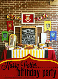 Harry Potter Party Decorations Diy Tattered And Inked Diy Harry Potter Birthday Party