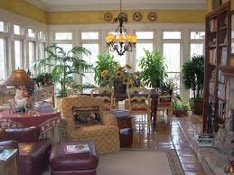Decorated Sunrooms Decorating Ideas For A Sunroom Dark Leather Upholstered Dining