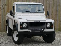 white land rover defender land rover defender 110 white horse motors