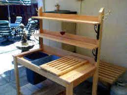 Redwood Potting Bench Free Potting Bench Plans With Sink Easy Diy Idea Projects And