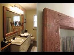 diy bathroom mirror ideas diy mirror frame ideas