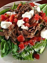 crock pot salsa verde shredded beef grounded u0026 surrounded