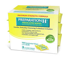 Ready To Ship Wipe Your Preparation H Medicated Hemorrhoidal Wipes With Witch Hazel