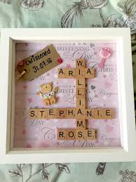 personalised christening shadow box art christening gift