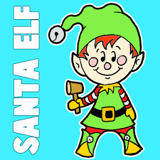 draw christmas elf easy steps drawing tutorial