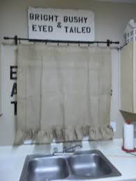 Ruffled Kitchen Curtains My Burlap Kitchen Curtains I Made This Pinterest Burlap