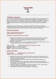 student cv pharmacy student cv exle resume template cover letter