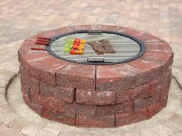 Firepit Brick Improbable Brick Pit Garden Landscape