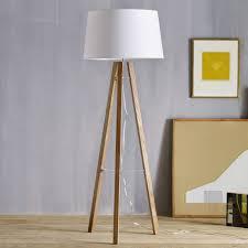 tripod wood floor lamp west elm uk