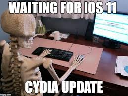 Jailbreak Meme - yalu jailbreak on twitter waiting for an ios 11 cydia update like