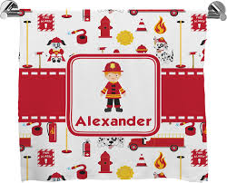 firefighter full print bath towel personalized potty training