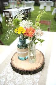 jar flower arrangement blue and green flower centerpieces fijc info
