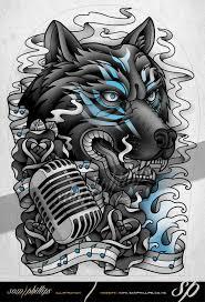wolf spirit half sleeve by sam phillips nz on deviantart