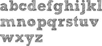 sketch block letter font u2014 english