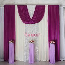 Wedding Backdrop Background Aliexpress Com Buy Elegant Wedding Backdrop Curtain With Swag