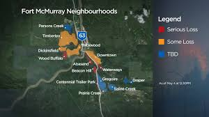 Wildfire Map Fort Mcmurray Wildfire Map Of Neighbourhoods Affected Globalnews Ca
