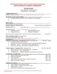 Sample Resume Undergraduate by Undergraduate Resume And Cover Letter Examples Madison