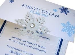 snowflake wedding invitations royal blue turquoise snowflake themed wedding invitation