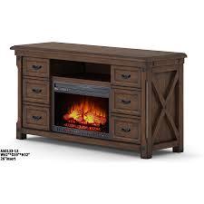 shop whalen 62 in w 5 200 btu brown wood veneer infrared quartz