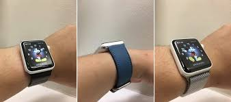 apple watch light blue ceramic apple watch paired with milanese loop classic buckle and
