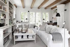 home interior mirror rustic contemporary interior design colorful cushions wood tread