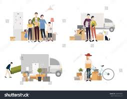 New House by People Moving Into New House Things Stock Vector 568494892