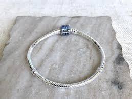 pandora clasp sterling silver bracelet images Pandora silver sterling signature clasp royal blue crystals jpg