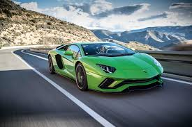 Green Lamborghini Aventador - 2018 lamborghini aventador s front three quarter in motion 27
