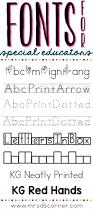 fonts for special educators mrs d u0027s corner