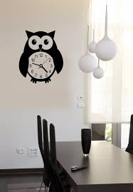 online get cheap owl vinyl decal aliexpress com alibaba group wall stickers vinyl decal owl clocks bird nursery home decor free shipping china