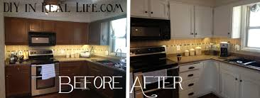 Diy White Kitchen Cabinets by Painting Kitchen Cabinets White Before And After Pictures Modern