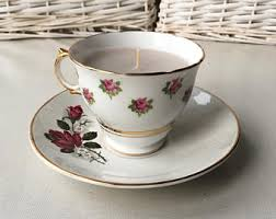 tea cup candle teacup candle etsy