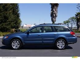blue subaru outback newport blue pearl 2008 subaru outback 2 5xt limited wagon