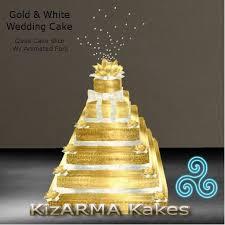 second life marketplace gold u0026 white wedding cake box