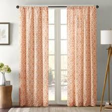 Orange Panel Curtains Buy Orange Window Curtains From Bed Bath U0026 Beyond