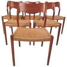 set of six niels moller model 71 teak dining chairs for sale at