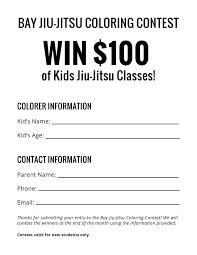 coloring contest bay jiu jitsu