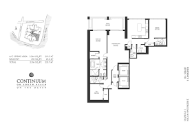 Brickell On The River Floor Plans Continuum Ii North Vitnell Group