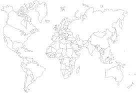 map of the world outline with name of countries map of the world
