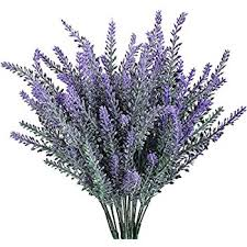 lavender bouquet ysber 5 pcs artificial flocked lavender bouquet